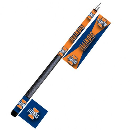 Illinois Fighting Illini College Pool Cue Stick