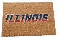 Illinois Fighting Illini Colored Logo Door Mat