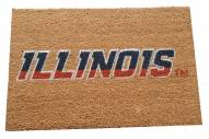 Illinois Fighting Illini Colored Logo Door Mat