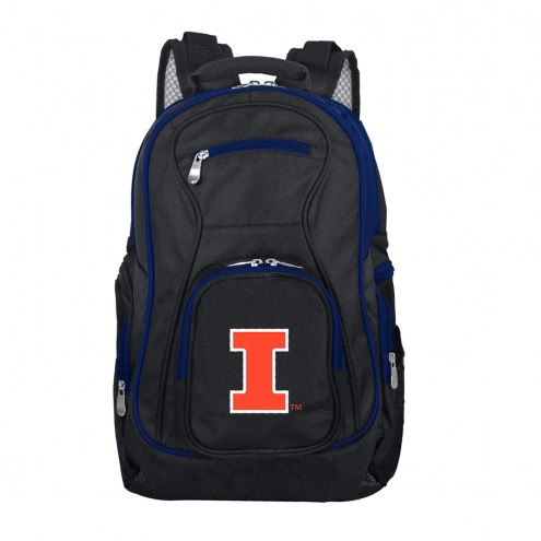 NCAA Illinois Fighting Illini Colored Trim Premium Laptop Backpack