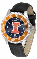 Illinois Fighting Illini Competitor AnoChrome Men's Watch - Color Bezel
