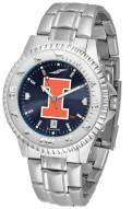 Illinois Fighting Illini Competitor Steel AnoChrome Men's Watch