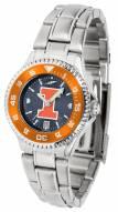 Illinois Fighting Illini Competitor Steel AnoChrome Women's Watch - Color Bezel