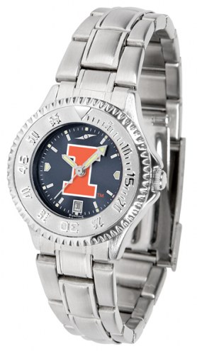 Illinois Fighting Illini Competitor Steel AnoChrome Women's Watch