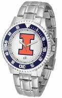 Illinois Fighting Illini Competitor Steel Men's Watch