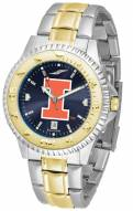 Illinois Fighting Illini Competitor Two-Tone AnoChrome Men's Watch
