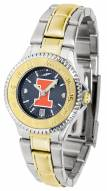 Illinois Fighting Illini Competitor Two-Tone AnoChrome Women's Watch