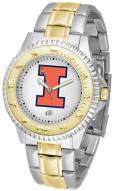 Illinois Fighting Illini Competitor Two-Tone Men's Watch