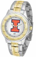 Illinois Fighting Illini Competitor Two-Tone Men's Watch