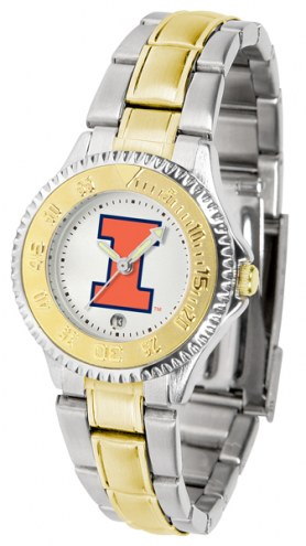 Illinois Fighting Illini Competitor Two-Tone Women's Watch
