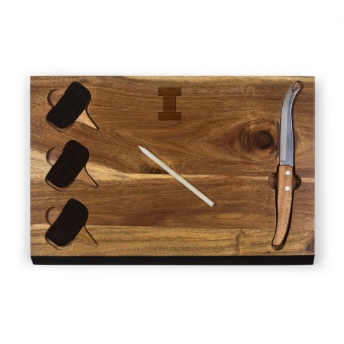 Illinois Fighting Illini Delio Bamboo Cheese Board & Tools Set