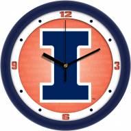 Illinois Fighting Illini Dimension Wall Clock