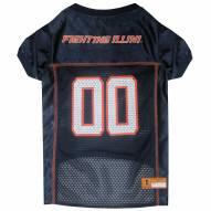 Illinois Fighting Illini Dog Football Jersey