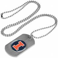 Illinois Fighting Illini Dog Tag