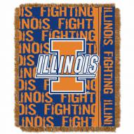 Illinois Fighting Illini Double Play Woven Throw Blanket