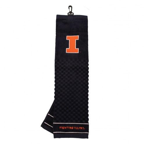 Illinois Fighting Illini Embroidered Golf Towel