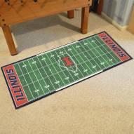 Illinois Fighting Illini Football Field Runner Rug