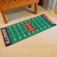 Illinois Fighting Illini Football Field Runner Rug