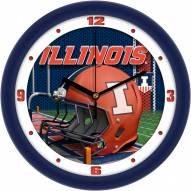 Illinois Fighting Illini Football Helmet Wall Clock