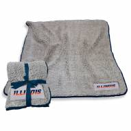 Illinois Fighting Illini Frosty Fleece Blanket