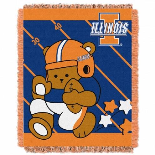 Illinois Fighting Illini Fullback Baby Blanket