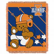 Illinois Fighting Illini Fullback Baby Blanket