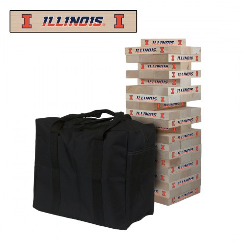 Illinois Fighting Illini Giant Wooden Tumble Tower Game