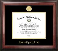 Illinois Fighting Illini Gold Embossed Diploma Frame