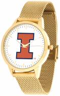 Illinois Fighting Illini Gold Mesh Statement Watch
