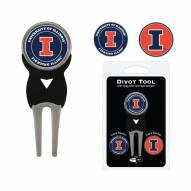 Illinois Fighting Illini Golf Divot Tool Pack