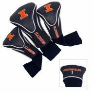Illinois Fighting Illini Golf Headcovers - 3 Pack