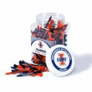 Illinois Fighting Illini 175 Golf Tee Jar