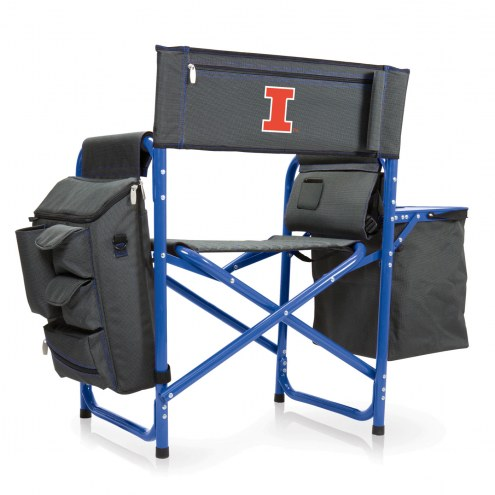 Illinois Fighting Illini Gray/Blue Fusion Folding Chair
