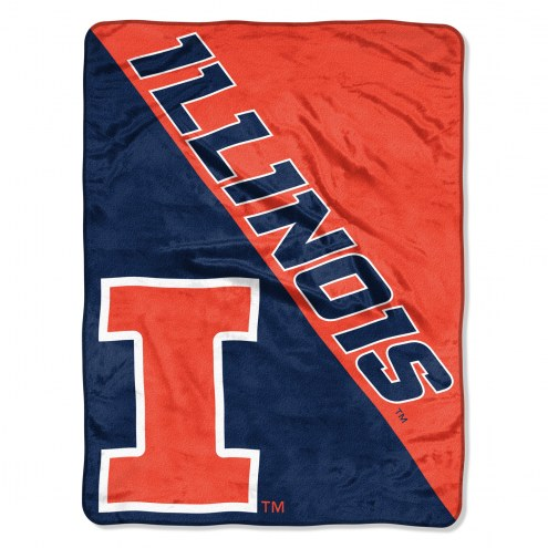 Illinois Fighting Illini Halftone Raschel Blanket
