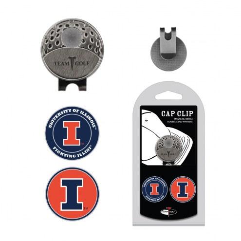Illinois Fighting Illini Hat Clip & Marker Set