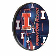 Illinois Fighting Illini Digitally Printed Wood Clock