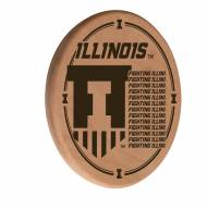 Illinois Fighting Illini Laser Engraved Wood Sign
