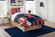 Illinois Fighting Illini Hexagon Twin Comforter & Sham Set