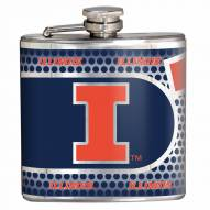 Illinois Fighting Illini Hi-Def Stainless Steel Flask