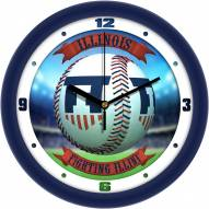 Illinois Fighting Illini Home Run Wall Clock