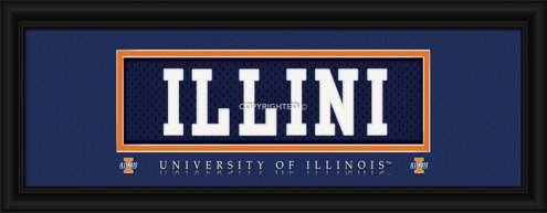 "Illinois Fighting Illini ""Illini"" Stitched Jersey Framed Print"