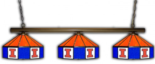 Illinois Fighting Illini 3 Shade Pool Table Light
