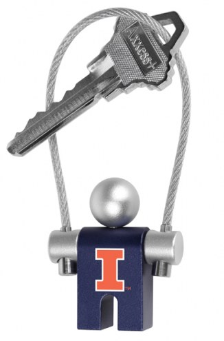 Illinois Fighting Illini Jumper Keychain