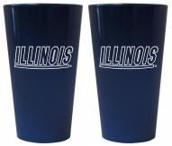 Illinois Fighting Illini Lusterware Pint Glass - Set of 2