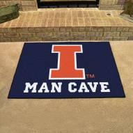 Illinois Fighting Illini Man Cave All-Star Rug