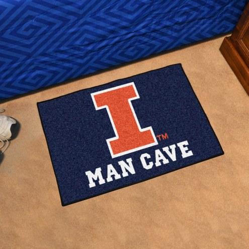 Illinois Fighting Illini Man Cave Starter Mat