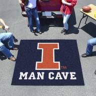 Illinois Fighting Illini Man Cave Tailgate Mat