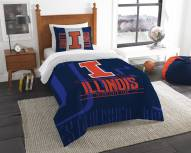 Illinois Fighting Illini Modern Take Twin Comforter Set