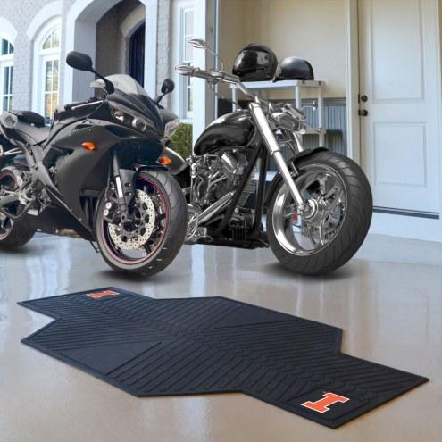 Illinois Fighting Illini Motorcycle Mat