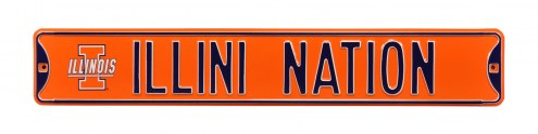 Illinois Fighting Illini Nation Street Sign